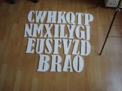 nieuwe houten letters letterhoogte 20cm