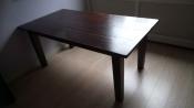 Tafels | Eettafels Donker houten eettafel