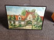 schilderij van een zicht uit brugge