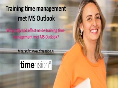 Training time management met outlook met blijvend effect